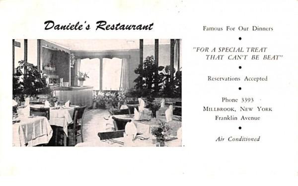 Daniele's Restaurant Millbrook, New York Postcard