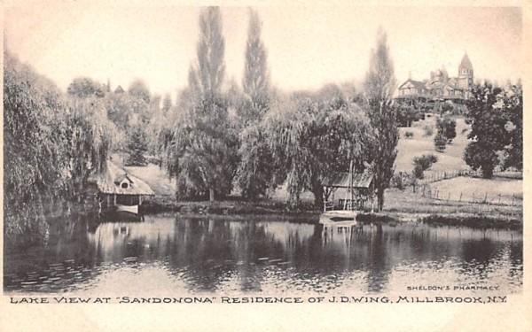 Lake View at Sandonona Millbrook, New York Postcard