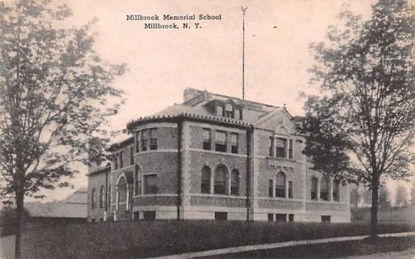 Millbrook Memorial School New York Postcard