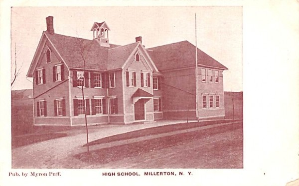 High School Millerton, New York Postcard