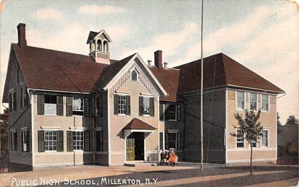 Public High School Millerton, New York Postcard
