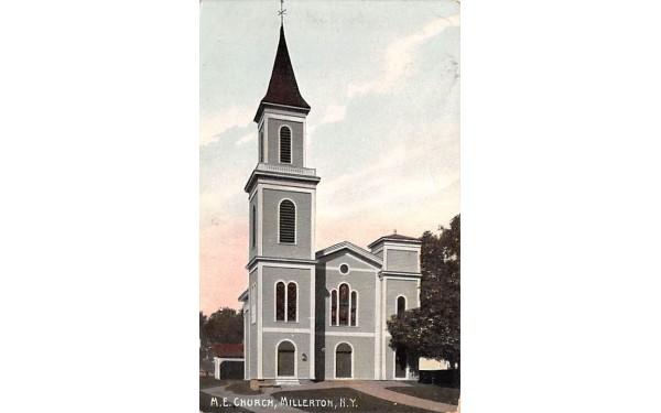 ME Church Millerton, New York Postcard