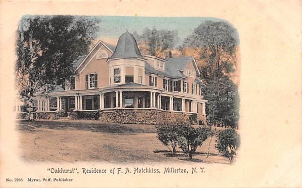 Oakhurst, Residence FA Hotchkiss Millerton, New York Postcard