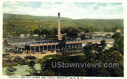 Sheppard Electric Cranes & Hoists - Montour Falls, New York NY Postcard