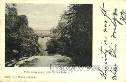 Bridge Looking East - Montour Falls, New York NY Postcard