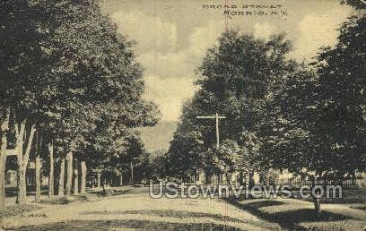 Broad Street - Morris, New York NY Postcard