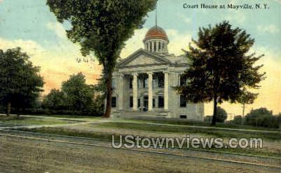 Court House - Mayville, New York NY Postcard