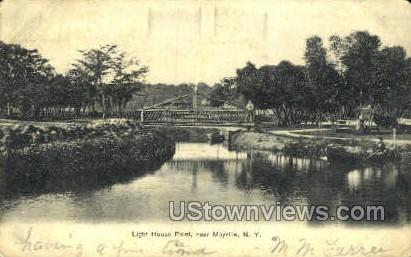 Light House Point - Mayville, New York NY Postcard