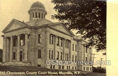 Chautauqua County Court House - Mayville, New York NY Postcard
