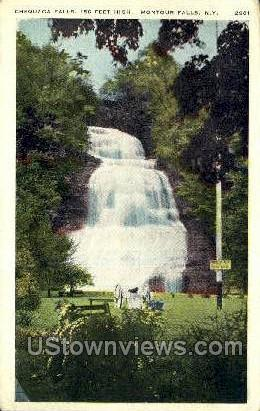 Chequaga Falls - Montour Falls, New York NY Postcard