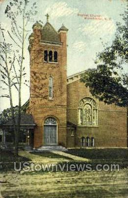 Baptist Church - Manchester, New York NY Postcard