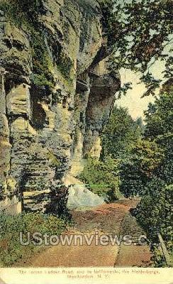The Indian Ladder Road - Meadowdale, New York NY Postcard