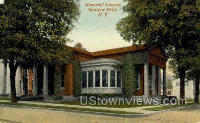 Memorial Library - Montour Falls, New York NY Postcard
