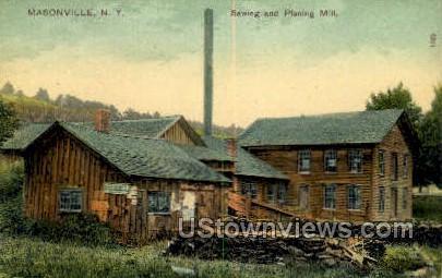 Sewing & Planing Mill - Masonville, New York NY Postcard