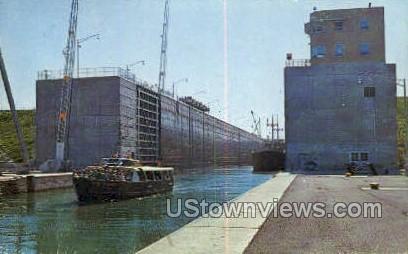 Massena St. Lawrence Seaway - New York NY Postcard