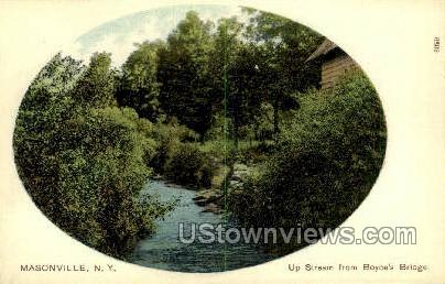 Boyce's Bridge - Masonville, New York NY Postcard