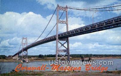 Cornwall-Massena International Bridge - New York NY Postcard