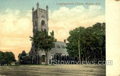 Congregational Church - Malone, New York NY Postcard