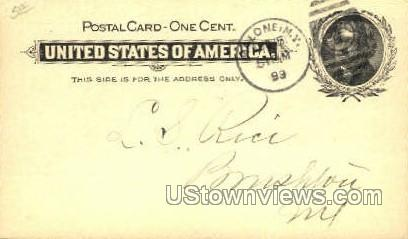 Post dated 1899 - Malone, New York NY Postcard