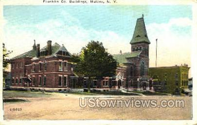 Franklin Co. Bldgs - Malone, New York NY Postcard