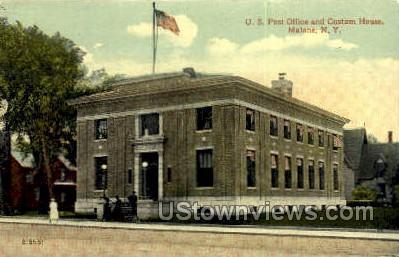US Post Office - Malone, New York NY Postcard