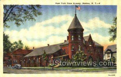 New York State Armory - Malone Postcard