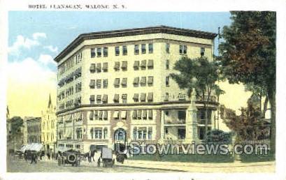 Hotel Flanagan - Malone, New York NY Postcard