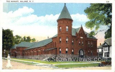 The Armory - Malone, New York NY Postcard