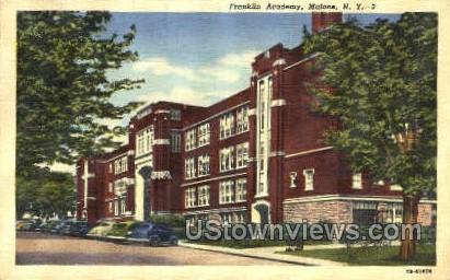 Franklin Academy - Malone, New York NY Postcard