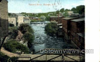 Salmon River - Malone, New York NY Postcard