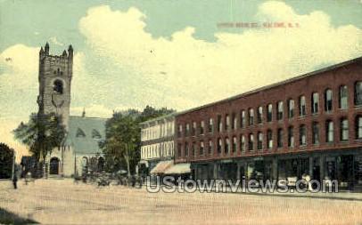 Upper Main Street - Malone, New York NY Postcard