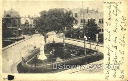 Public Square - Malone, New York NY Postcard
