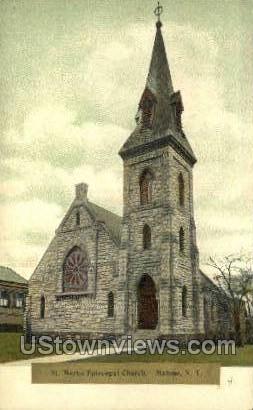 St. Mark's Episcopal Church - Malone, New York NY Postcard