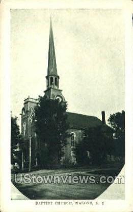 Baptist Church - Malone, New York NY Postcard