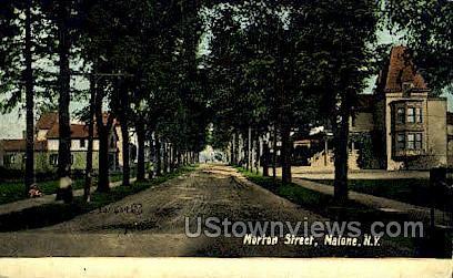 Morton Street - Malone, New York NY Postcard