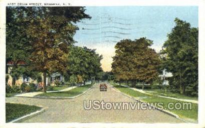East Orvis Street - Massena, New York NY Postcard
