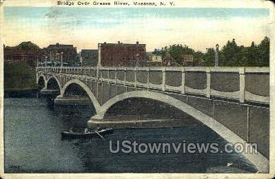 Bridge Over Grasse River - Massena, New York NY Postcard