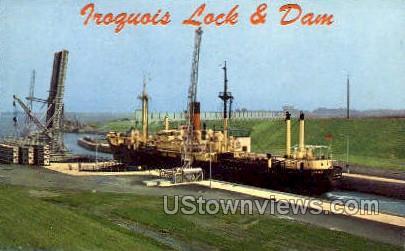 Froguois Lock & Dam - Massena, New York NY Postcard