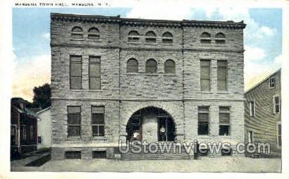 Massena Town Hall - New York NY Postcard