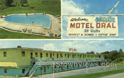 Motel Oral - Massena, New York NY Postcard