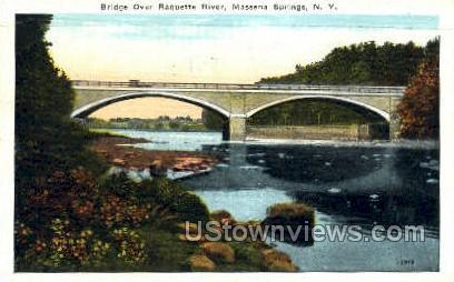 Bridge Over Raquette River - Massena, New York NY Postcard