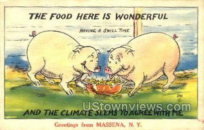 Massena, New York, NY Postcard
