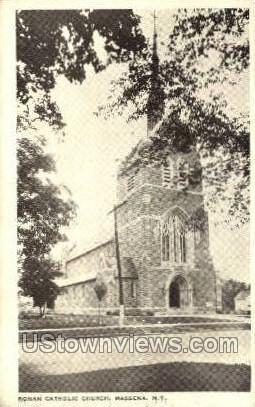 Roman Catholic Church - Massena, New York NY Postcard