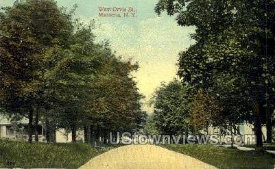 West Orvis St. - Massena, New York NY Postcard