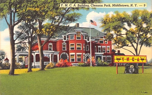 YMCA Building Middletown, New York Postcard