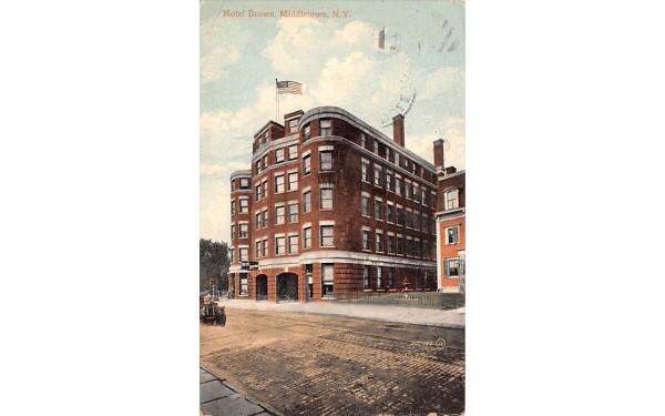 Hotel Brown Middletown, New York Postcard