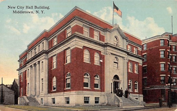 New City Hall Building Middletown, New York Postcard