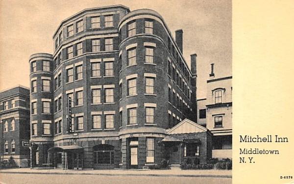 Mitchell Inn Middletown, New York Postcard