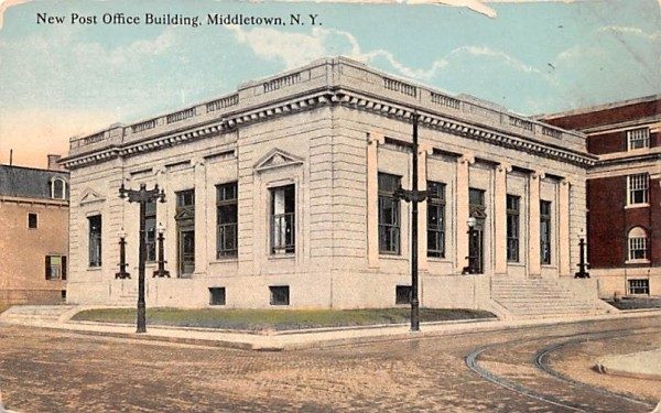 New Post Office Building Middletown, New York Postcard