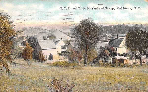 NYO & WRR Yard and Storage Middletown, New York Postcard